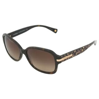 Coach Women's 'Amber HC8105 522713' Ocelot Sunglasses