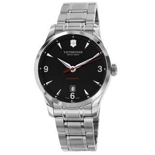 Swiss Army Men's 241669 'Alliance' Black Dial Stainless Steel Automatic Watch