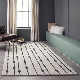 """Cosmopolitan Vines Grey Hand-tufted Wool Rug (2'3"""" x 8')"""