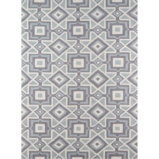 Seville Grey Hand-hooked Rug (7'6 x 9'6)