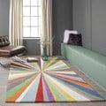 Cosmopolitan Color Burst Hand-tufted Wool Rug (8' x 10')
