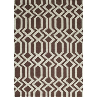 Springfield Brown Hand-hooked Rug (7'6 x 9'6)