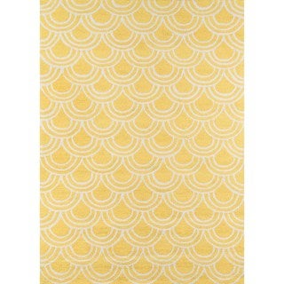 Key west Yellow Hand-hooked Rug (7'6 x 9'6)
