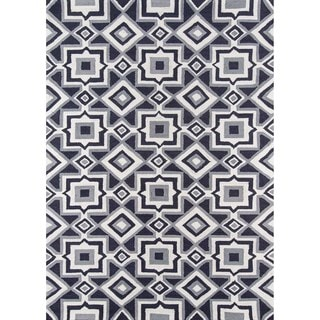 Seville Charcoal Hand-hooked Rug (7'6 x 9'6)