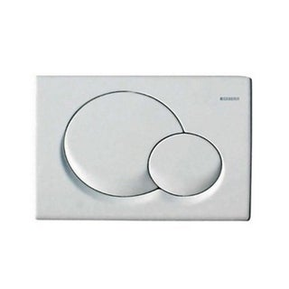 Geberit Dual-Flush Plate for Sigma Series In-Wall Toilet Systems (115.770.11.5) - Alpine White