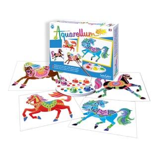 Aquarellum Junior Horses Art Canvas