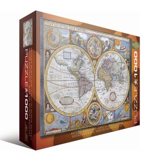 Antique World Map 1000-piece Puzzle