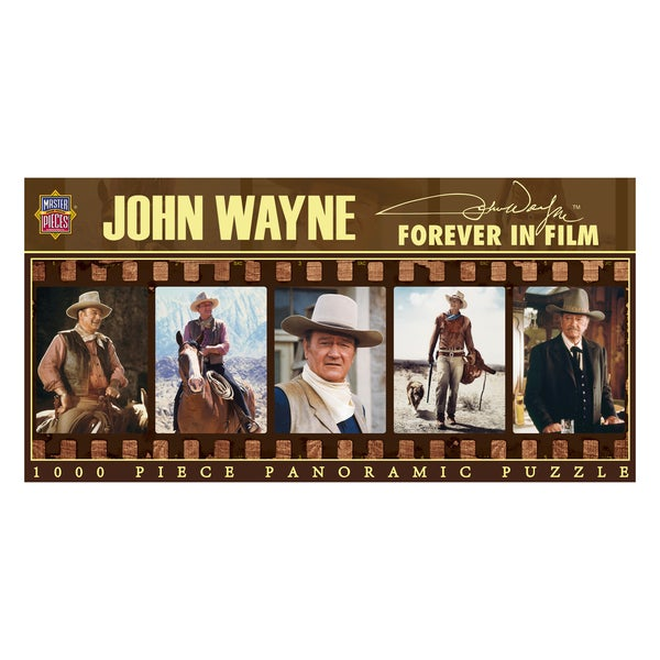 John Wayne Forever in Film Panoramic 1000-piece Puzzle