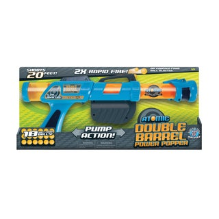 Atomic Double Barrel Power Popper Soft Ball Gun
