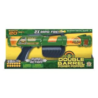 BullsEye Double Barrel Power Popper Soft Ball Gun