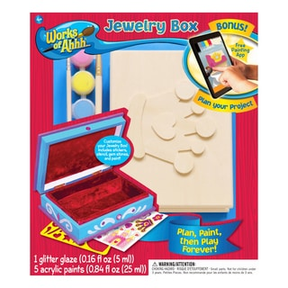 Works of Ahhh... Jewelry Box Wood Painting Kit