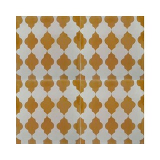 Pack of 12 Tafrout Yellow Handmade Cement and Granite 8-inch x 8-inch Floor and Wall Tile (Morocco)