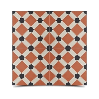 Pack of 12 Ait Baha Dama Handmade Cement and Granite 8-inch x 8-inch Floor and Wall Tile (Morocco)