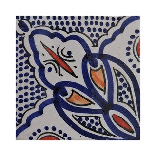 Pack of 40 Asfi Butterfly Hand-painted and Handmade 4-inch x 4-inch Floor and Wall Tile (Morocco)