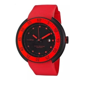 Red Line Men's RL-50039-BB-01-RD Driver Black Dial Watch