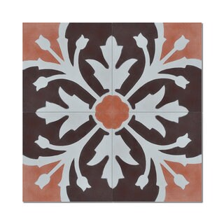 Pack of 12 Marjana Brown Handmade Cement and Granite 8-inch x 8-inch Floor and Wall Tile (Morocco)