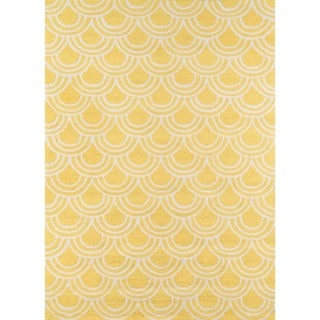 Key West Yellow Hand-hooked Rug (5' x 7')