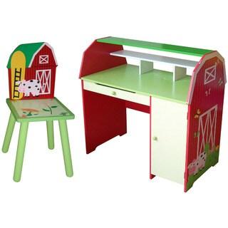 Slight Edge Farm Desk with Chair