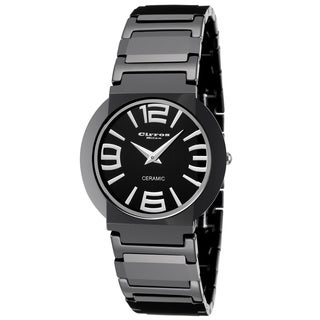 Cirros Milan Luxury Black Ceramic Watch