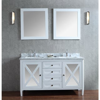 Summit 60-inch Double-sink Bathroom Vanity Set
