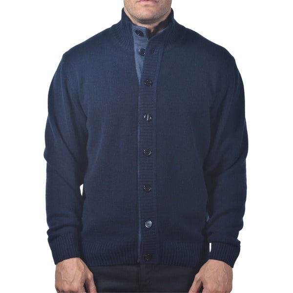 Men's Italian Cashmere Button-up Cardigan 14430482