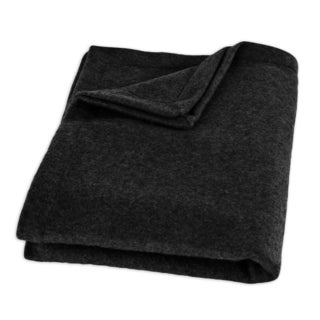 Fleece Black Top Stitched 26 x 40 Inch Throw