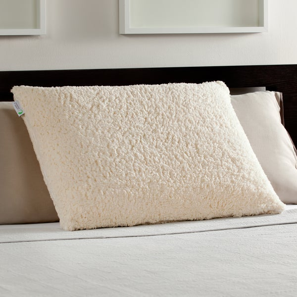 Comfort Memories Sherpa and Memory Foam Pillow (As Is Item)