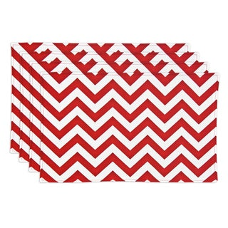 Zig Zag Lipstick Red Placemats (Set of 4)