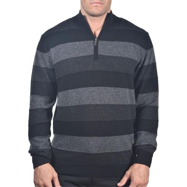 Men's Italian Merino Blend Quater-zip Sweater