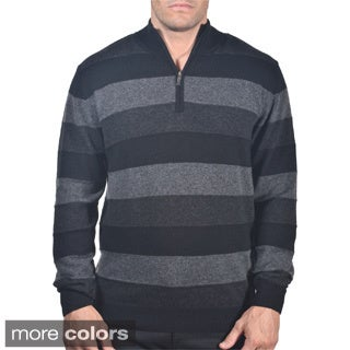 Men's Italian Merino Blend Quater-zip Sweater