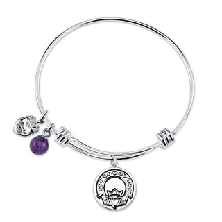 Shine Stainless Steel 'Love Loyalty Friendship Forever' Expandable Bangle