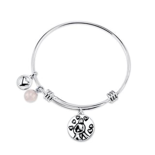 Shine Stainless Steel 'A Mother Hold Her Child's Hand' Expandable Bangle