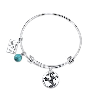 Shine Stainless Steel 'Friends Make Your World' Expandable Bangle