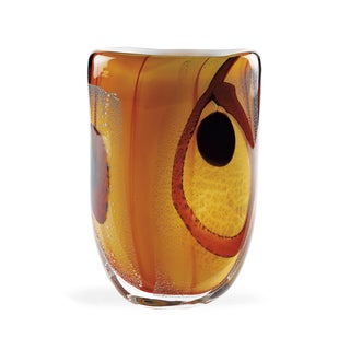 Sunrise Art Glass Oval Vase