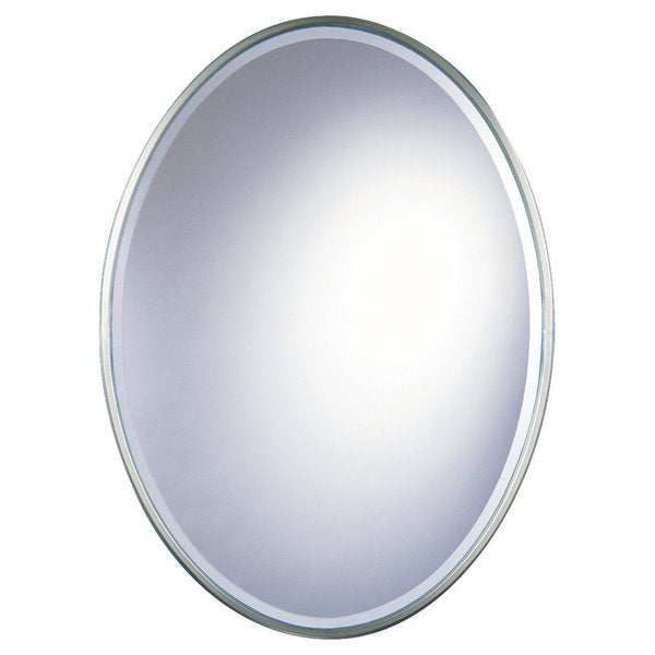 Westminster Pewter Oval Mirror