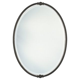 Oil Rubbed Bronze Minimalist Oval Mirror