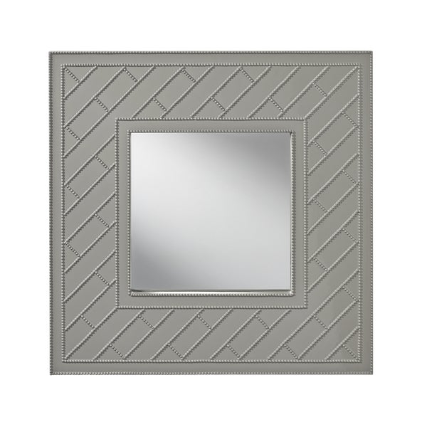 Hi Gloss Grey Trellis Mirror