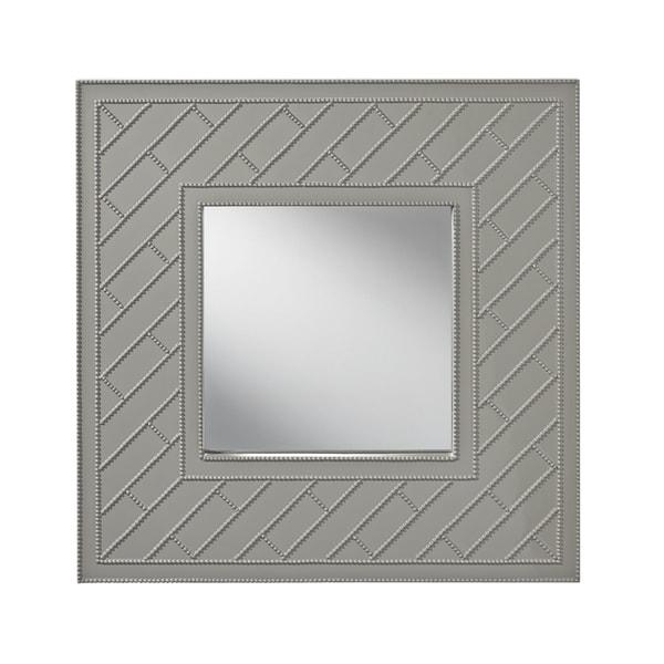 Hi Gloss Grey Trellis Mirror