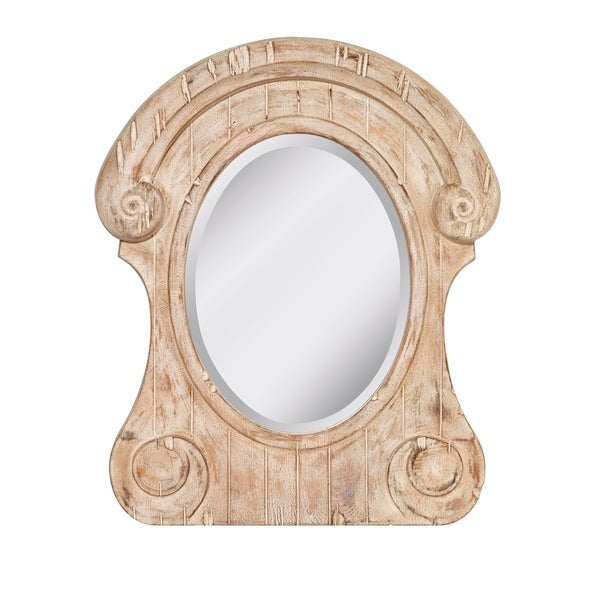 Distressed Ivory Mirror