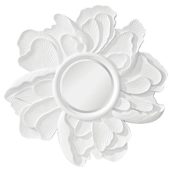 Peony Hi Gloss White Mirror