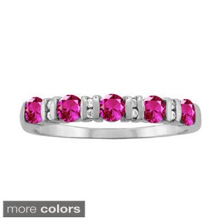 10k White Gold Designer Bezel-set Round-cut Birthstone Ring