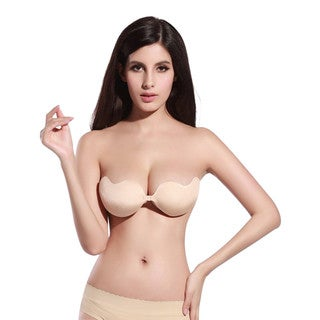 Bra Society Beige Strapless Push-Up V-Bra