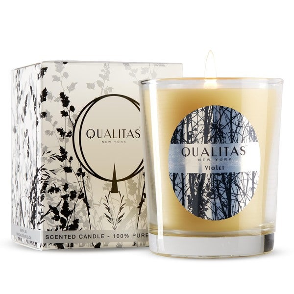 Qualitas White Beeswax Violet Scented Candle 14431300