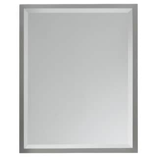 Brushed Steel Wall Mirror