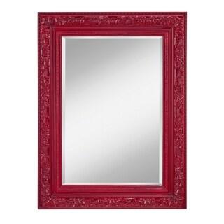Crimson Lacquer Decorative Mirror