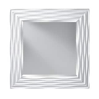 White Hi Gloss Wall Mirror