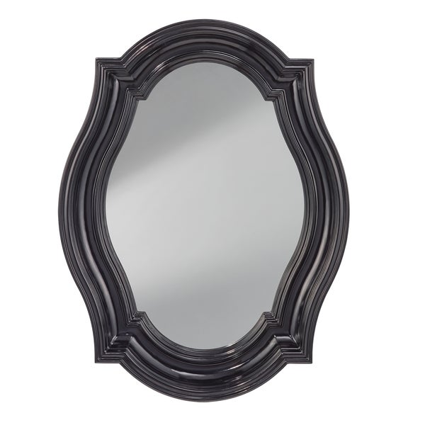 Black Hi Gloss Wall Mirror