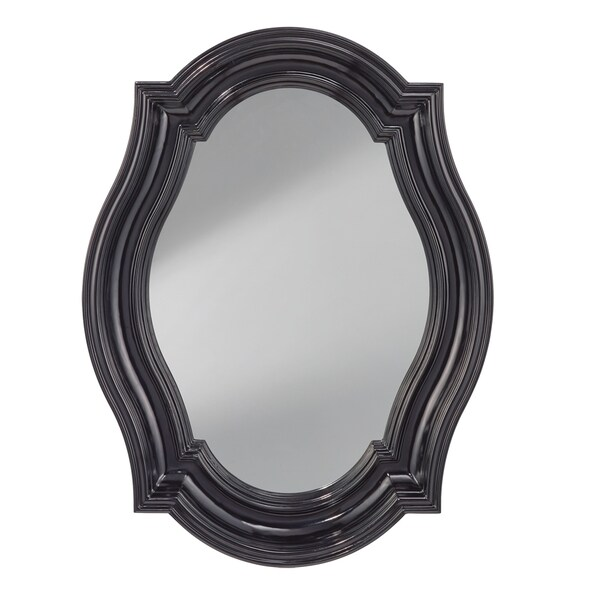 Black Hi Gloss Wall Mirror