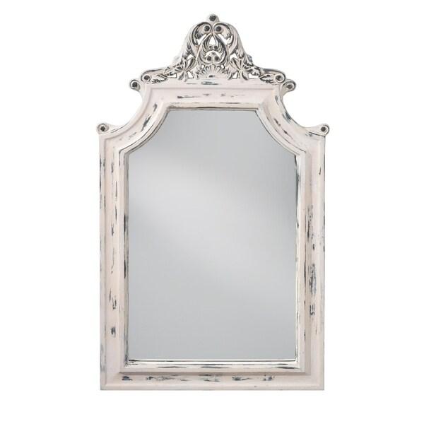 Hand Painted White Mirror