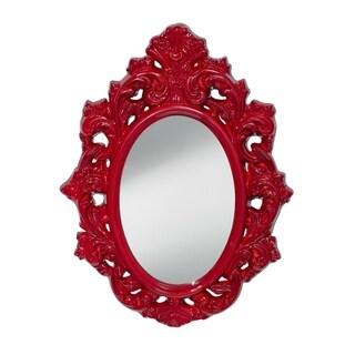 Crimson Lacquer Mirror